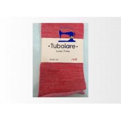 Tubolare Lurex oro e rosso