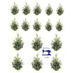 Velluto Decò stampato leaves