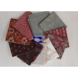 Fat quarter Pacchetto Bordeaux