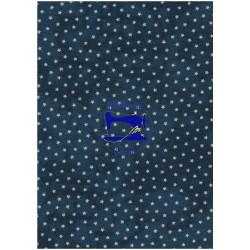 Tessuto blu con stelline -...