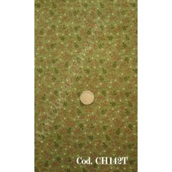 Tessuto verde con bacche rosse