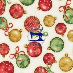 Tessuto sfere natalizie...