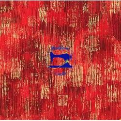Tessuto rosso metallic gold
