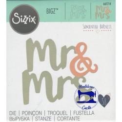 Fustella Bigz 661714 Mr & Mrs